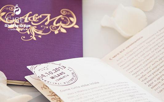 Invitaciones de boda tipo pasaporte