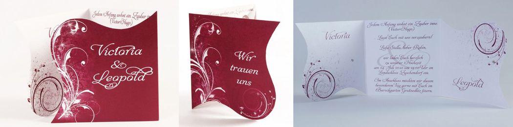 Beispiel: Einladung zur Hochzeit, Foto: cardstyle.de.