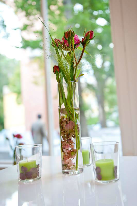 Beispiel: Hochzeitsgedeck, Foto: Kursalon Mödling.