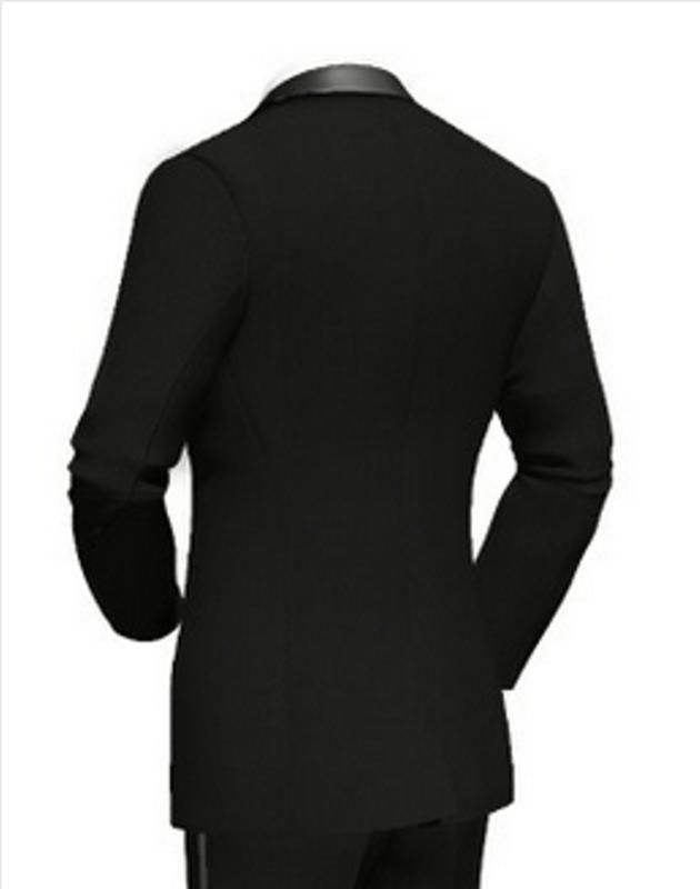 Beispiel: Hochzeitsanzug schwarz - Rückansicht, Foto: Poshodorosuits.