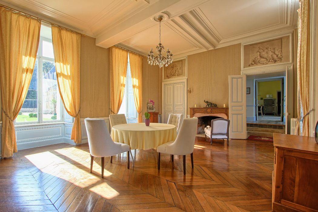 le salon bleu - Château de Villiers Cerny