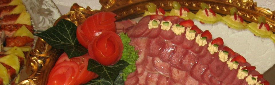 Beispiel: Büffetplatte, Foto: Restaurant Rosenhof.