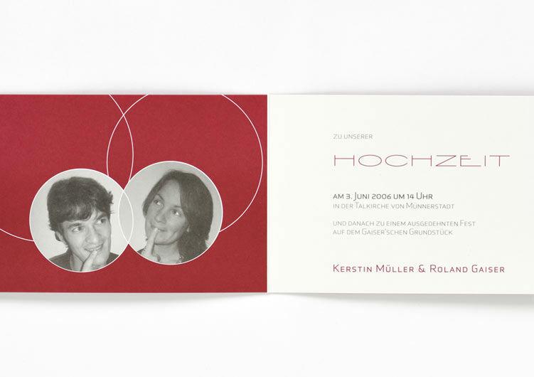 Beispiel: Persönliche Hochzeitseinladungen, Foto: Druckerei Friesl.