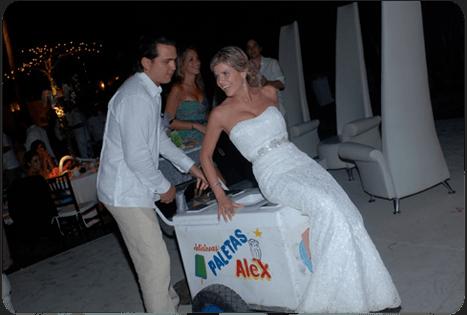 Carrito de paletas. Caty Gomez Wedding Planner Acapulco