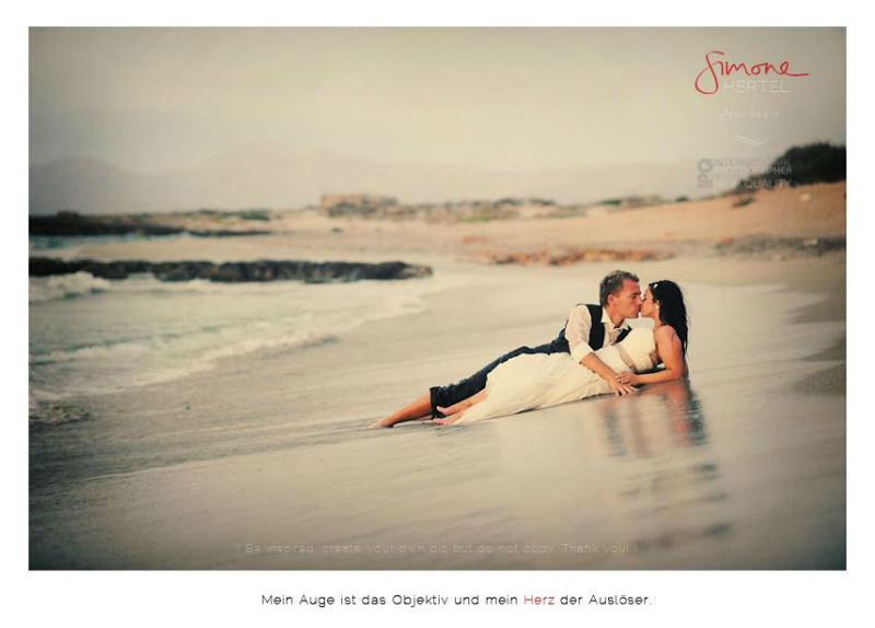 Beispiel: Afterwedding Shooting, Foto: Simone Hertel.