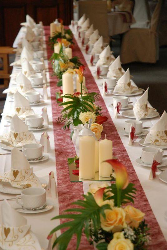 Beispiel: Tischdekoration, Foto: Schloss Kropstädt.