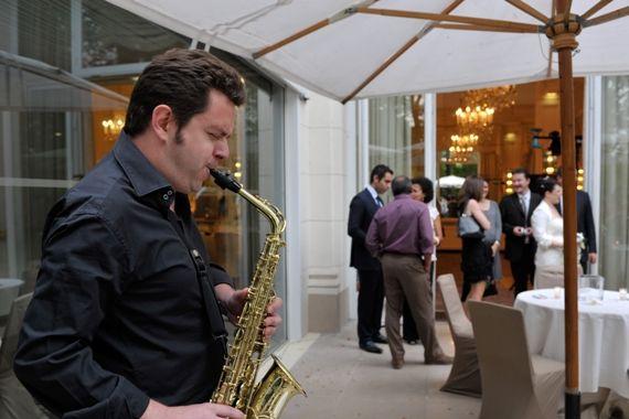Saxophone jazz solo cocktail