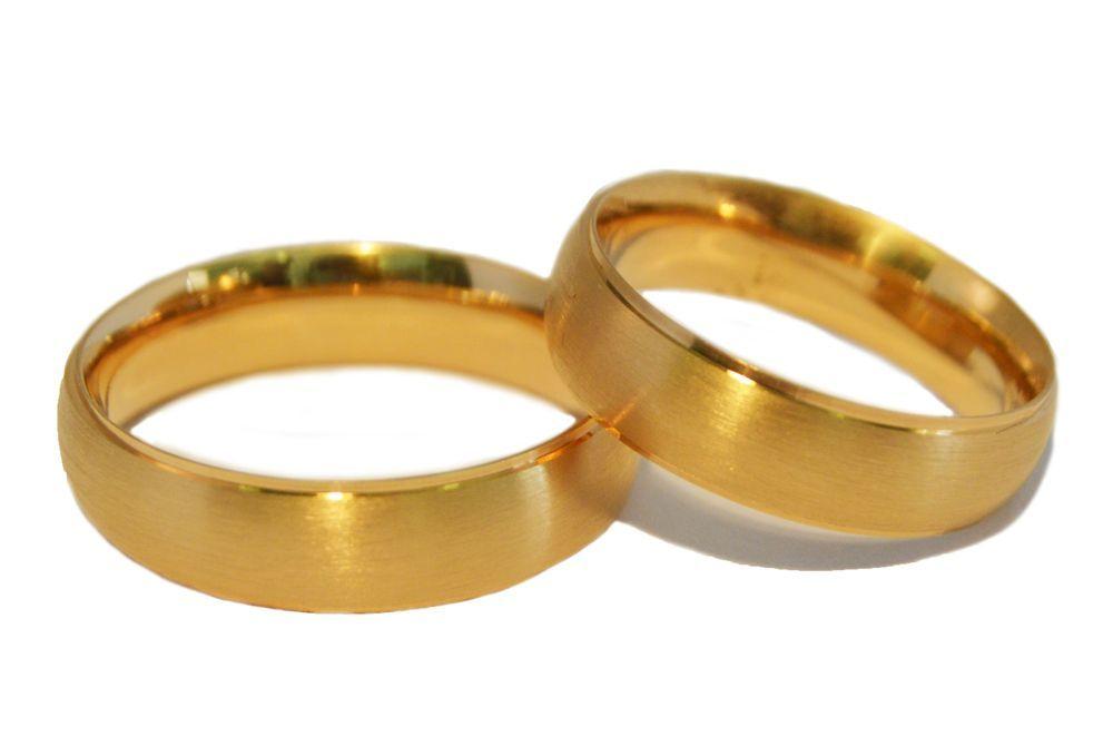 Alianças Casamento Ouro Amarelo ALC43A