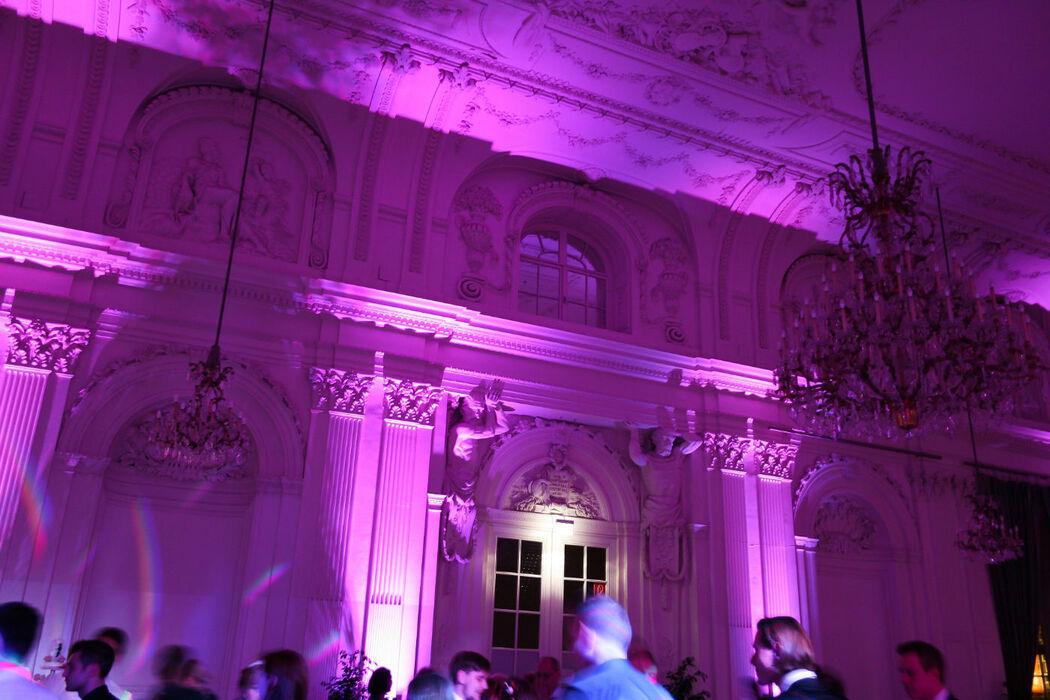 Beispiel: Event-Beleuchtung. Foto: Hochzeits & Party DJ René Schmidt.
