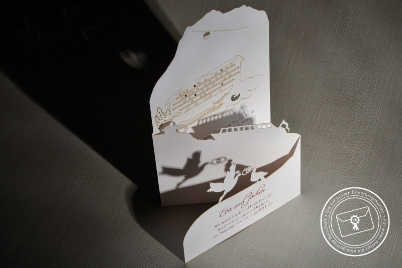 Beispiel: Einzigartige Einladungen, Foto: Die exklusiven Einladungskarten.