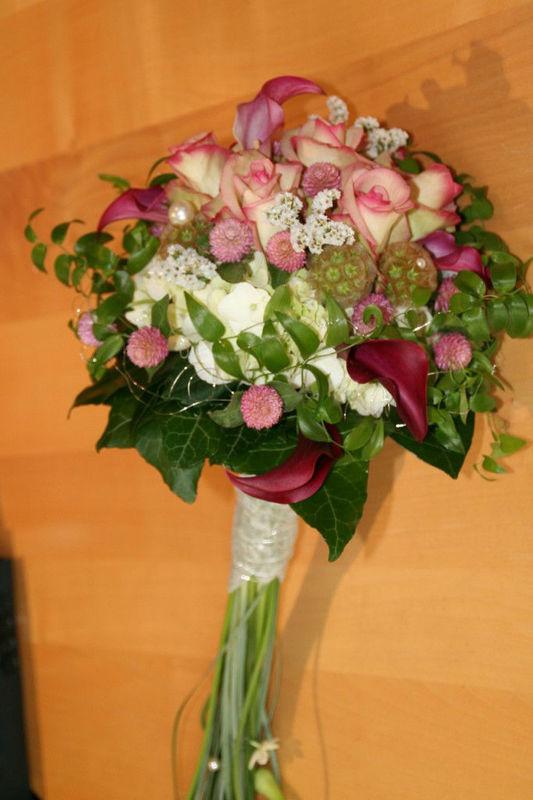 Beispiel: Brautstrauß, Foto: Die Blume Gengenbach.