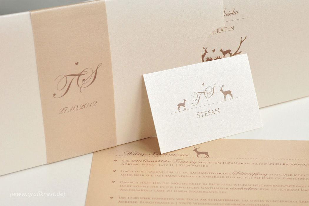 Beispiel: Einladung (Wildromantik), Foto: Annette Bleichert {GrafikNEST}.