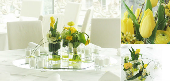 Beispiel: Wunderschöne Hochzeitsfloristik, Foto: Florentina Schiller Dekoration & Design.