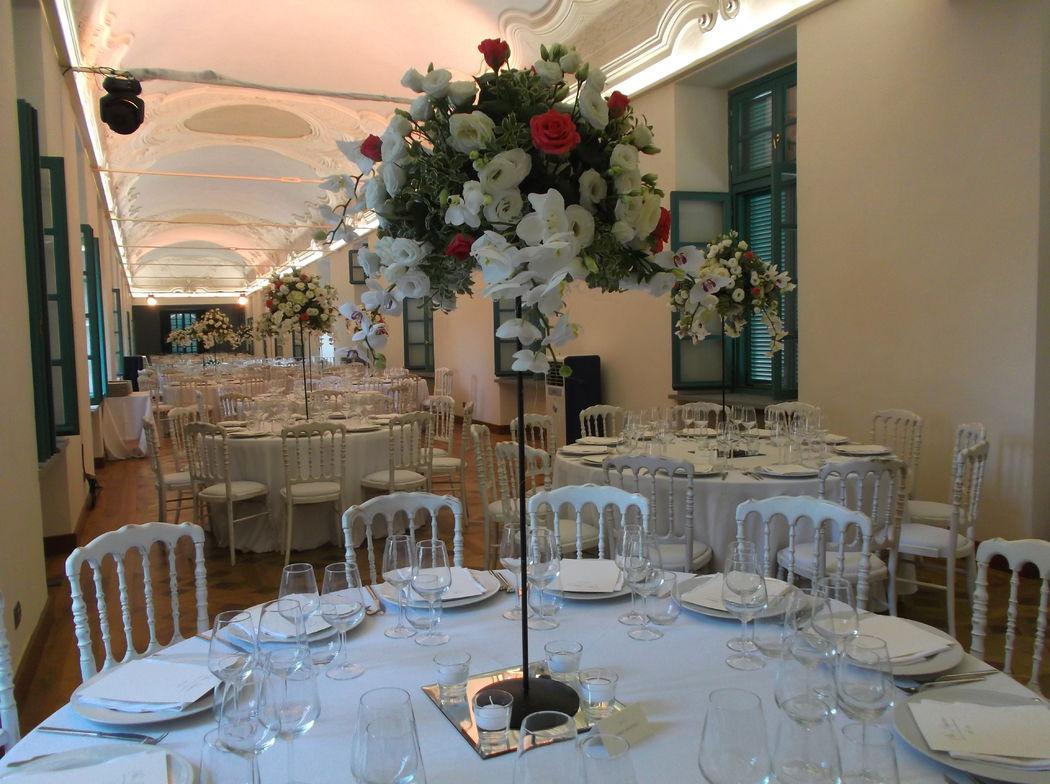 Nella Galleria del Settecento si possono allestire tavoli separati....