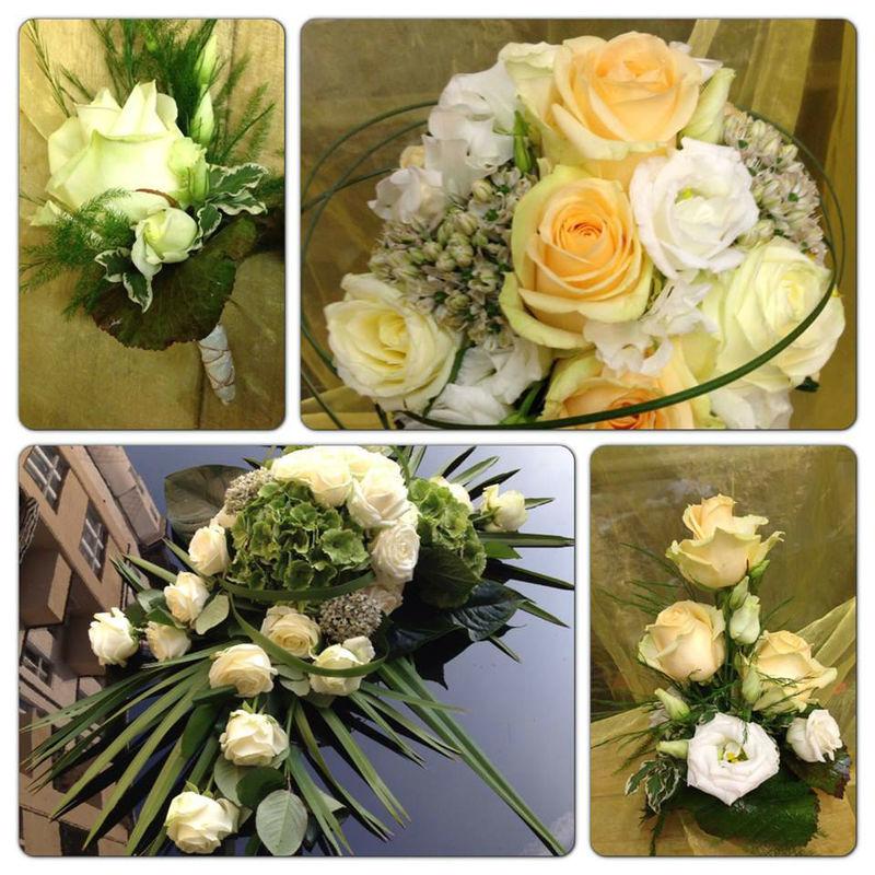 Beispiel: Blumenstrauß und Hochzeitsschmuck, Foto: Blumen Röglin.
