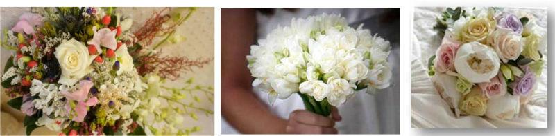 Jardín de té y flores. Bouquets claros