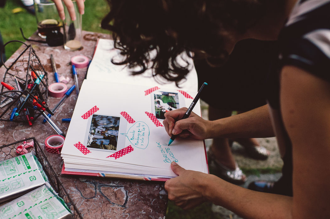 Z+A boda inspirada en la ruta 66 Photocall y libro de firmas