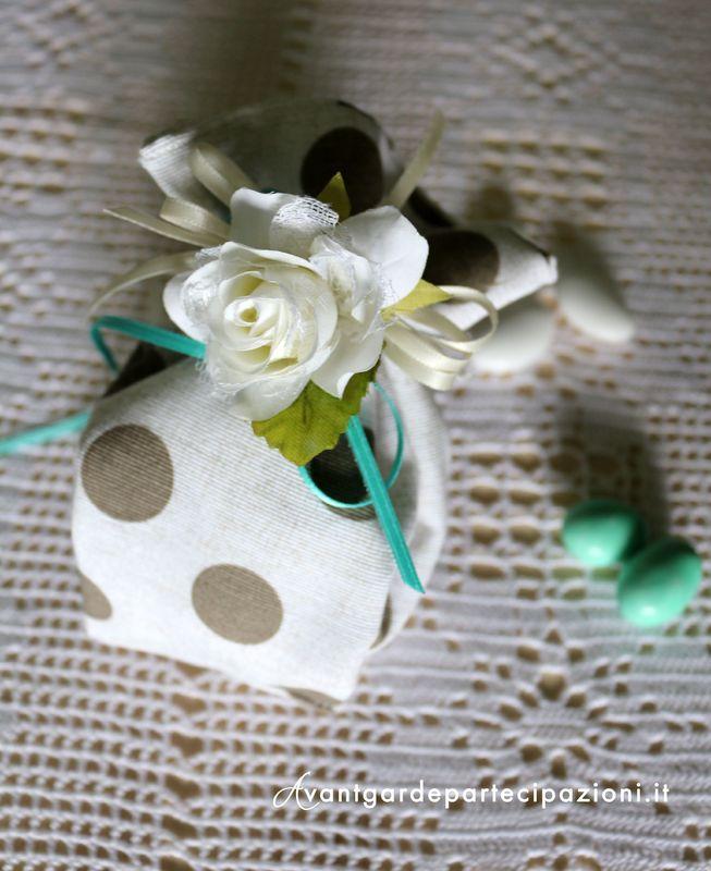 sacchetto confetti shabby chic roses