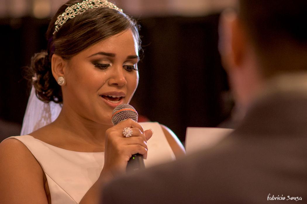os votos emocionados da noiva