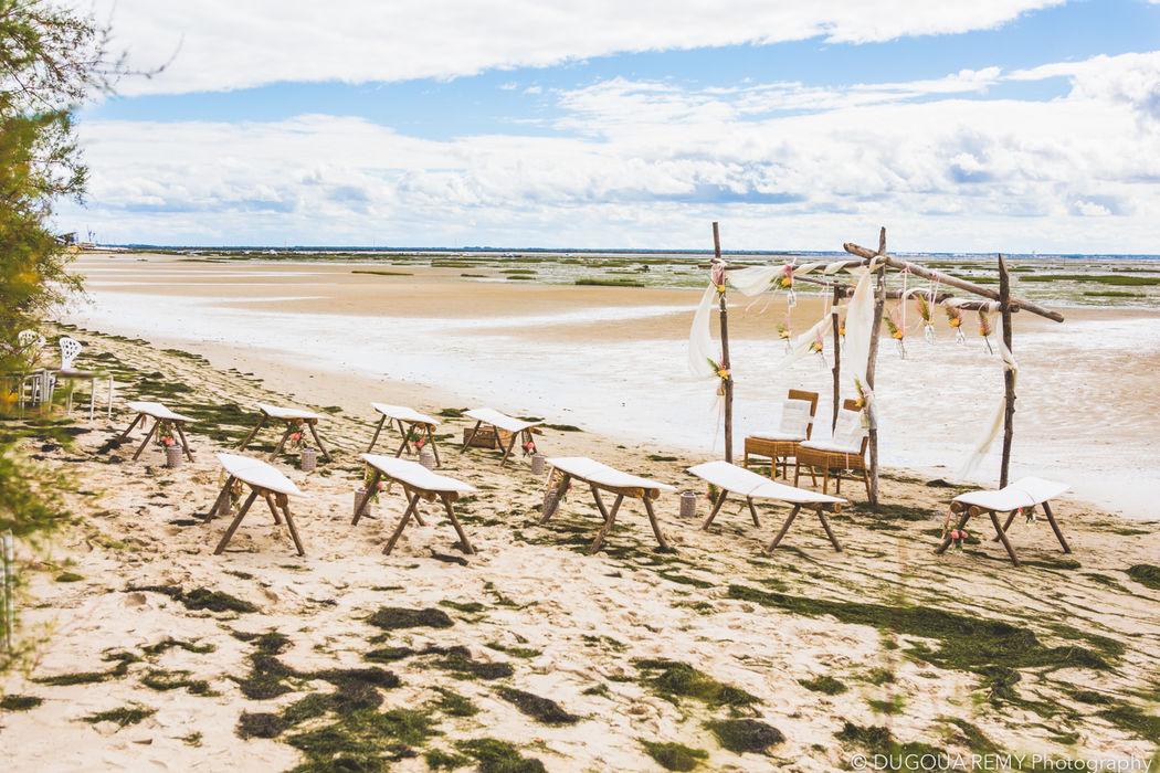 Décor de cérémonie sur la plage