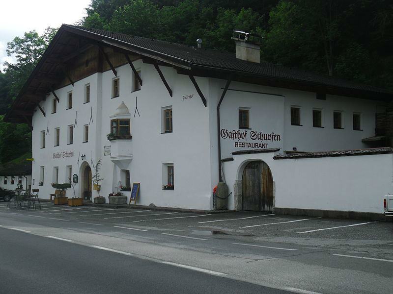 Beispiel: Außenansicht Restaurant, Foto: Gasthaus Schupfen.