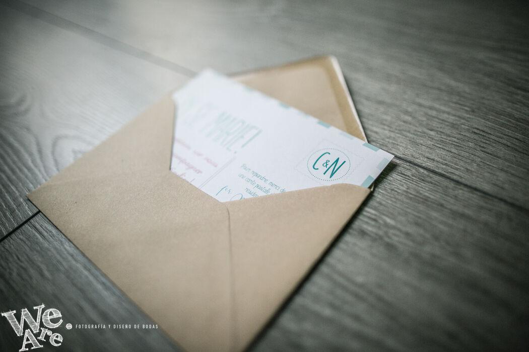 Invitaciones de Boda. Postal de Viajes