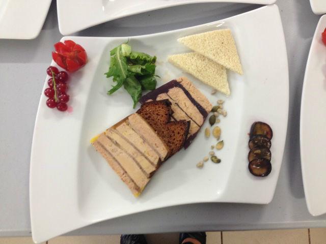 foie gras en millefeuille