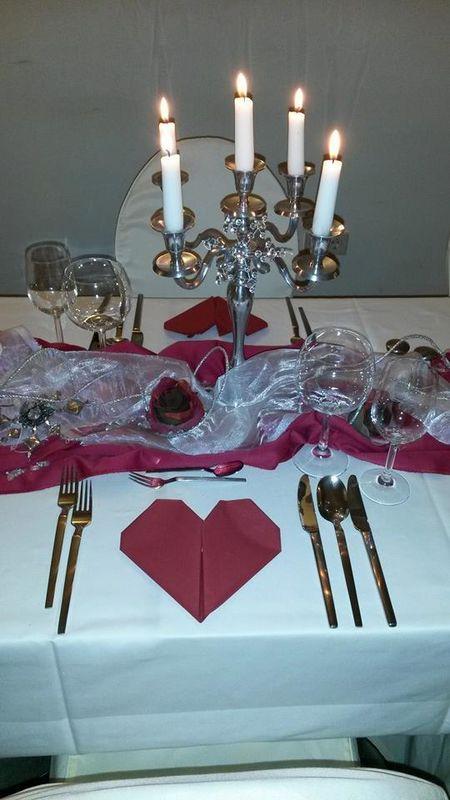 Beispiel: Tischdekoration, Foto: Schlosshotel Eybar.