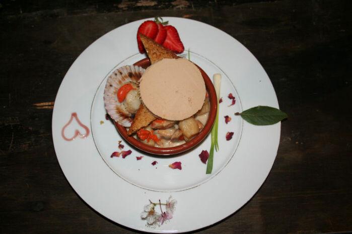 cassolette de saint Jacques au foie gras
