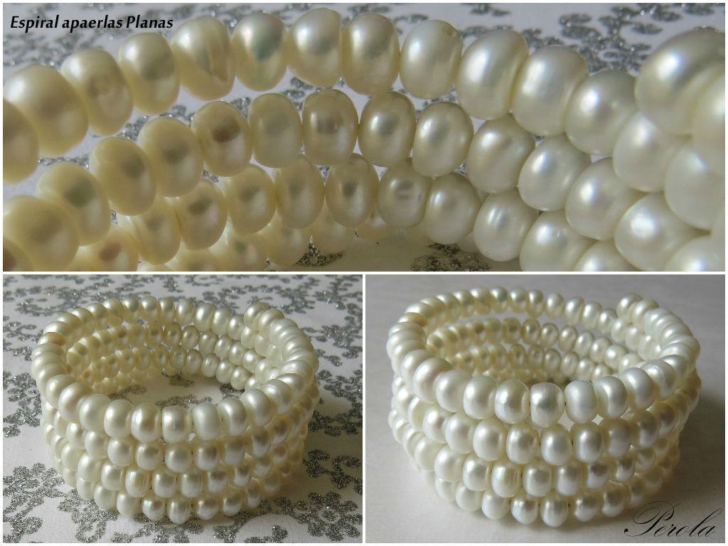 Espiral perlas planas!! especial para vestido novia compestre