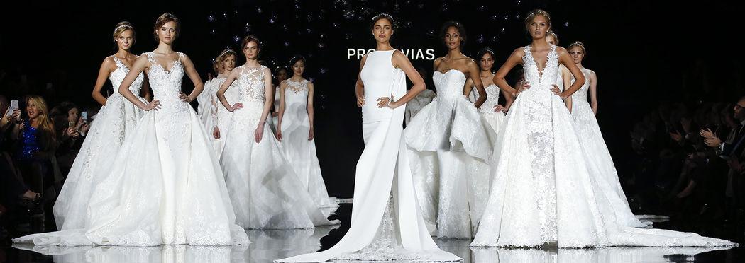 Sfila la sposa 2017 di Pronovias. La Bridal Fashion Week di Barcellona ha ospitato la magica sfilata che ha portato in passerella incantevoli ricami, applicazioni lucenti e forme che come sempre valorizzano con sensualità le forme femminili.
