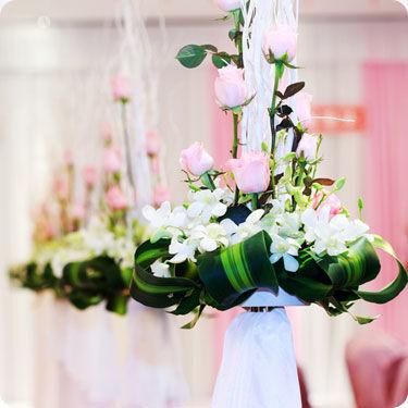 Arreglo floral para colgar