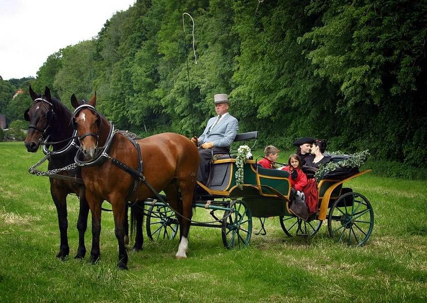 Beispiel: Hochzeitskutsche, Foto: Burg Gnandstein.