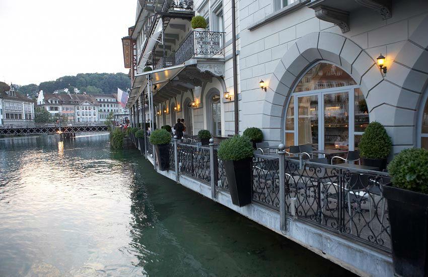 Beispiel: Terrasse, Foto: Hotel des Balances.