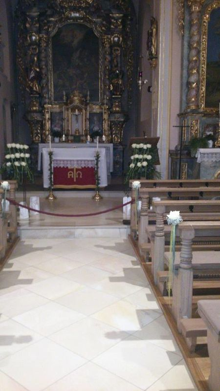 Beispiel: Kirchendekoration, Foto: Blumerie Immergrün.