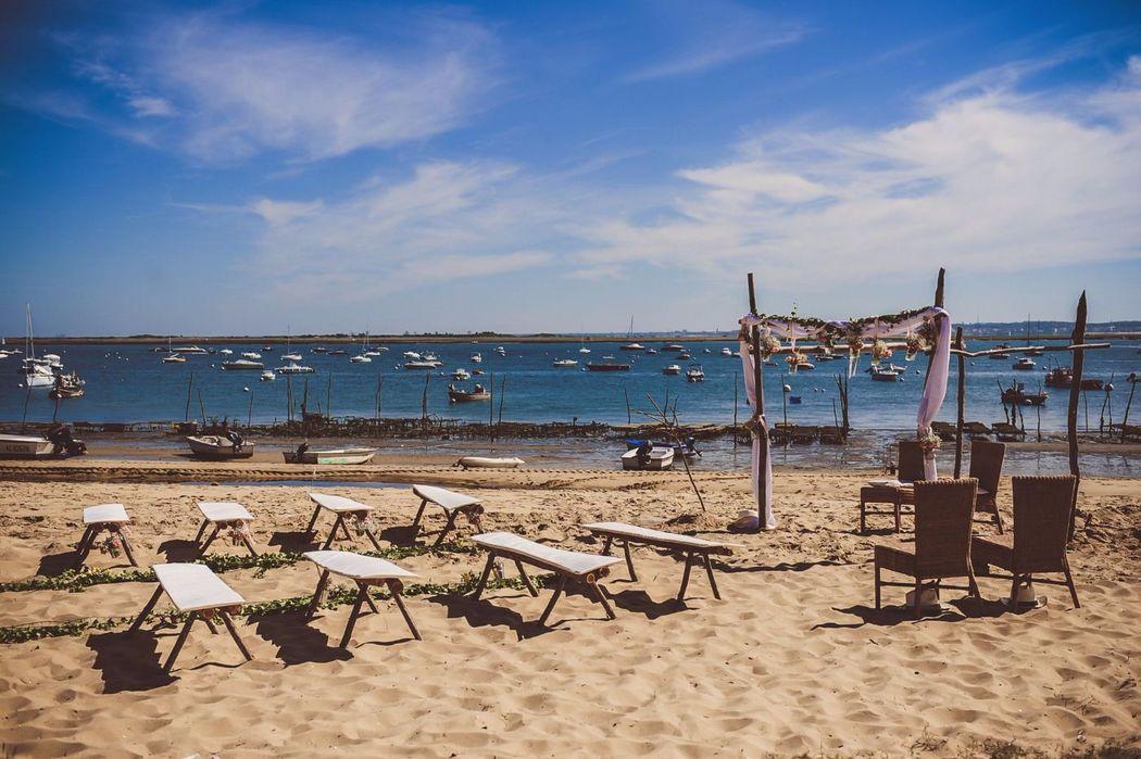 Se marier les pieds dans l'eau au Cap Ferret, c'est possible.