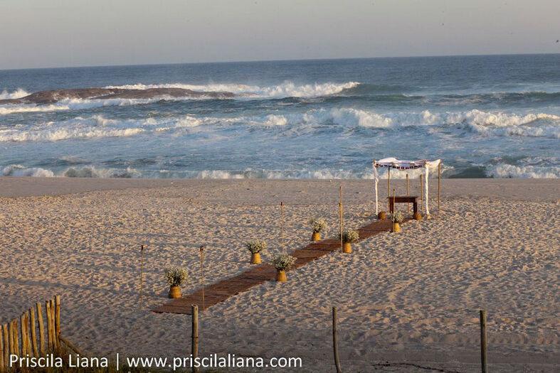 Decoração Incomparável Eventos: Casamento na praia, Saquarema