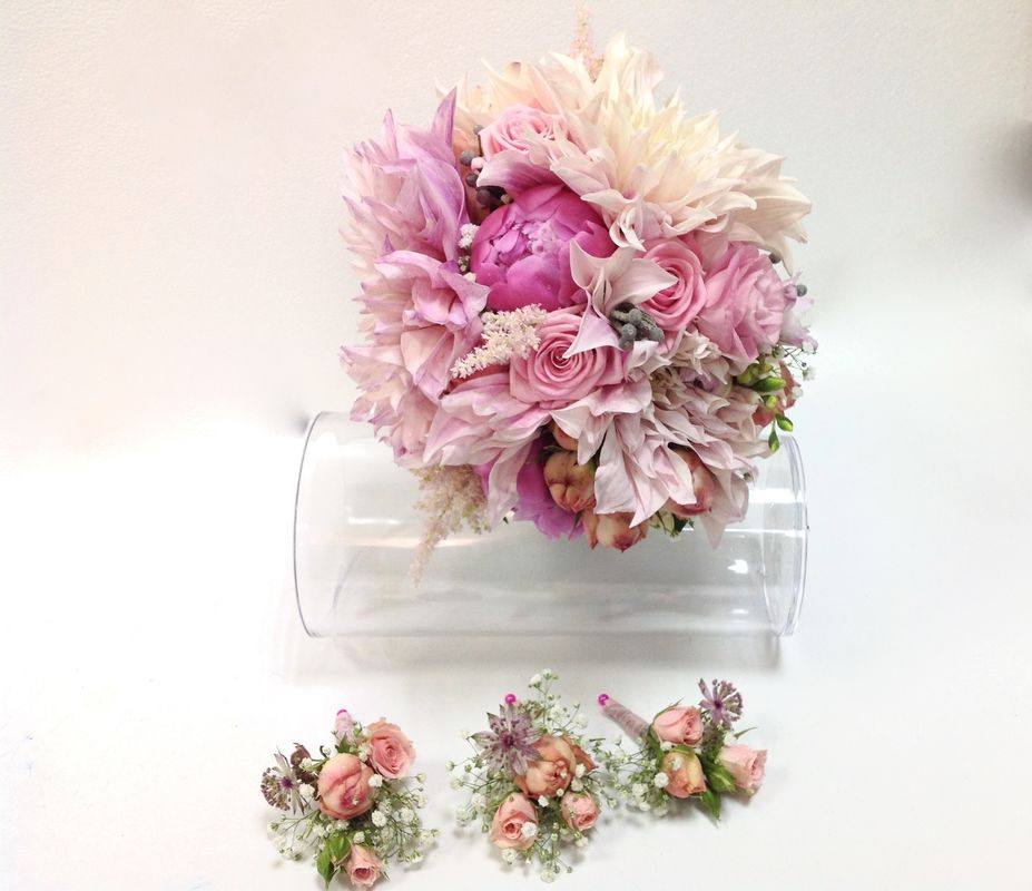 Bouquet con grandes dalias