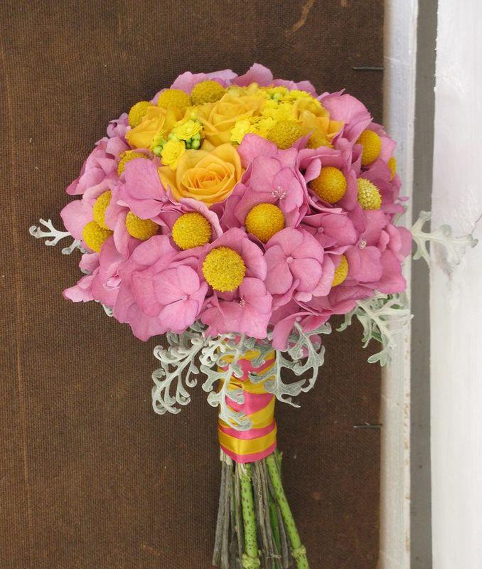 Bouquet de Noiva Amarelo e Rosa