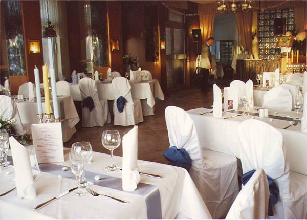 Beispiel: Bankettbestuhlung, Foto: Hotel Restaurant Igel.