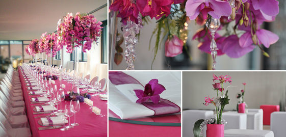 Beispiel: Hochzeitsdekoration ganz aus Blumen, Foto: Florentina Schiller Dekoration & Design.