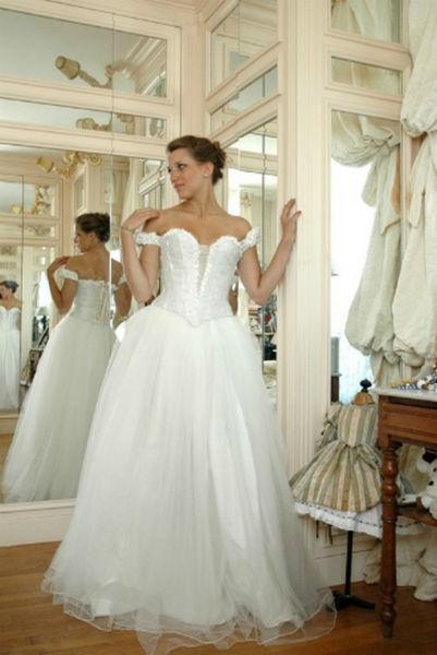 Robe de mariée Danseuse étoile en soie Agnès Szabelewski