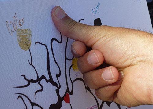 Beispiel: Ihre persönliche Fingerabdruck-Leinwand, Foto: Galleryy.
