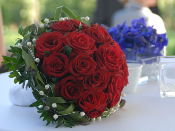 Beispiel: Hochzeitsfloristik, Foto: Wedding and Dreams.