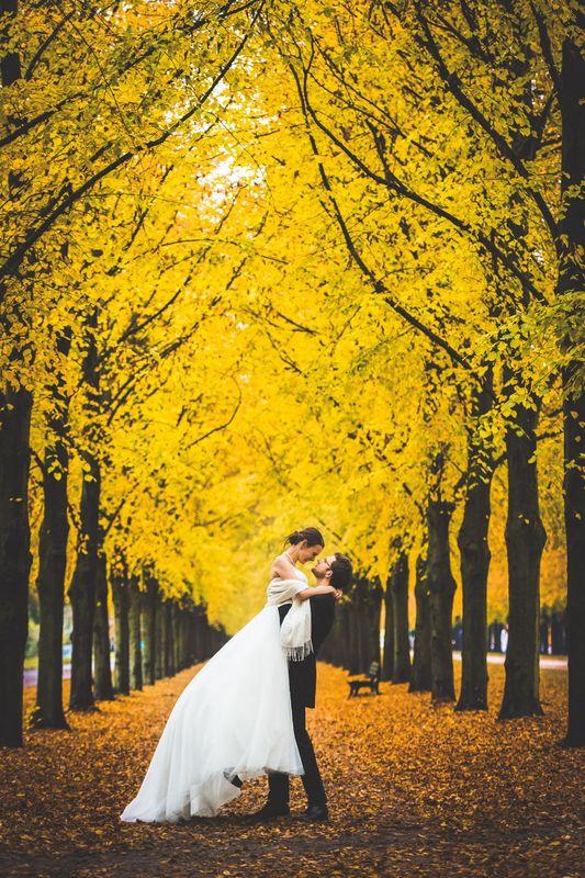 Beispiel: Brautpaarshooting im Herbst, Foto: Hochzeitsfotografie Thomas Göbert