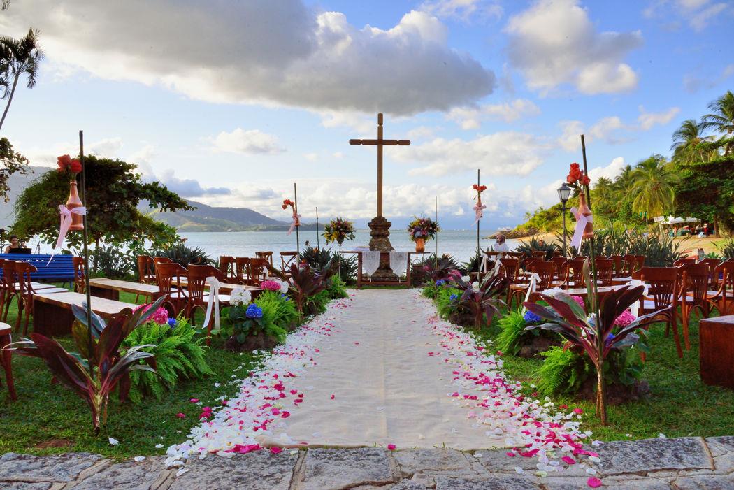 Casamento Ana Beatriz & John - Decoração, Boquet de Noiva e Acessórios - Vanessa Oz Flores - Fazenda São Mathias - Ilhabela