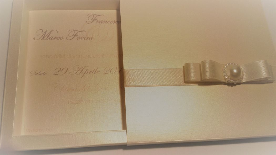 Invito di Nozze modello box