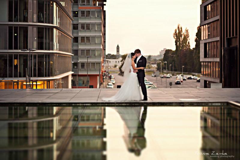 Beispiel: Portrait des Brautpaares, Foto: Yvonne Zemke wedding photography.