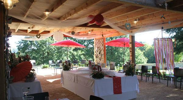 La terrasse de LA GRANGE - MARIAGE ETE 2014
