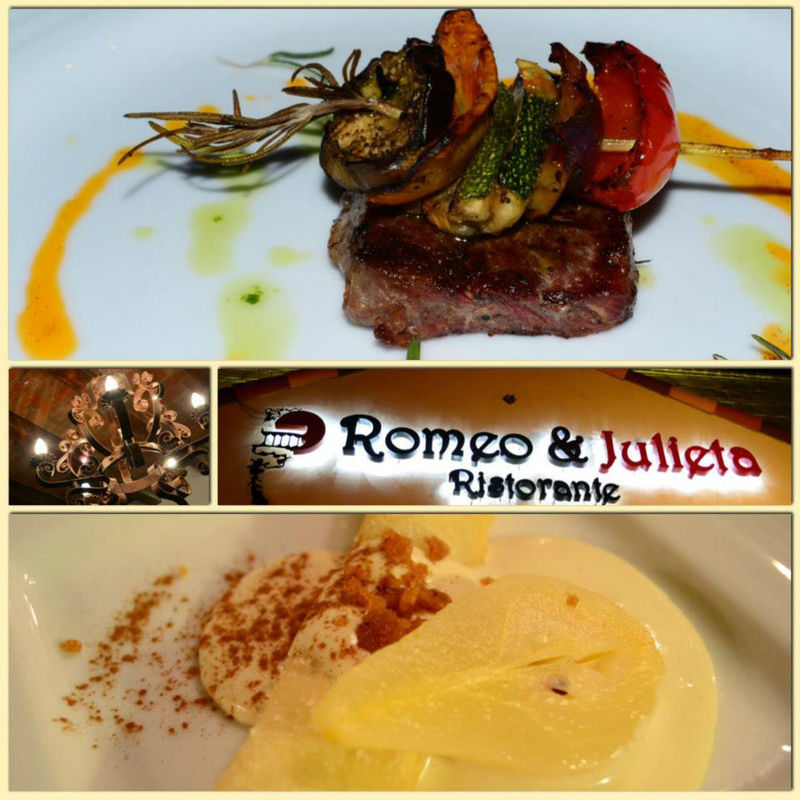 Restaurant Romeo y Julieta en Cabo San Lucas.